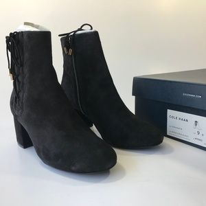 Cole Haan Leah Round Toe Ankle Fashion Boots